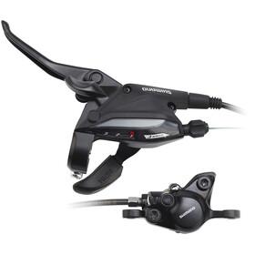 Shimano EF505/MT200 - Frenos de disco - Rueda delantera 3 velocidades Montaje Posterior negro